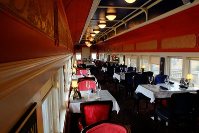 At the St. Boniface train station, now a restaurant, an old passenger car has been appended as an additional dinning room.