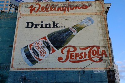 Pepsi ad from the '50s, still looking fresh. Or was it part of a movie set?