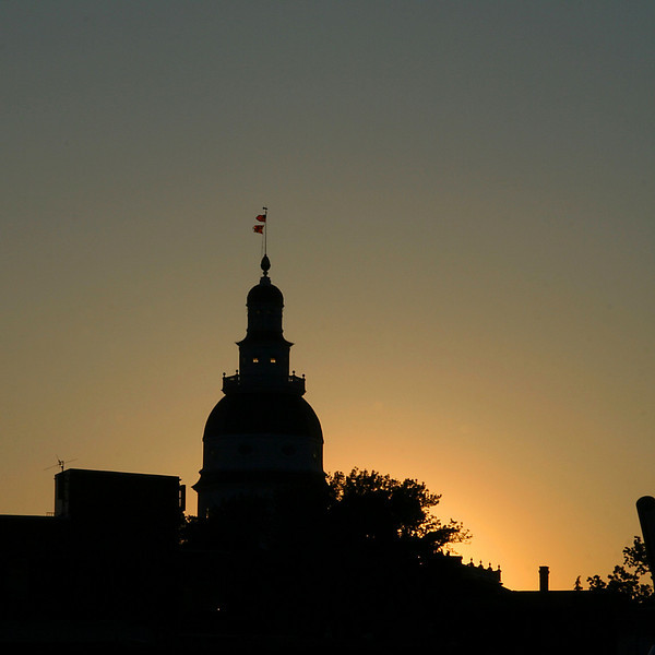 Annapolis - State House at Sunset