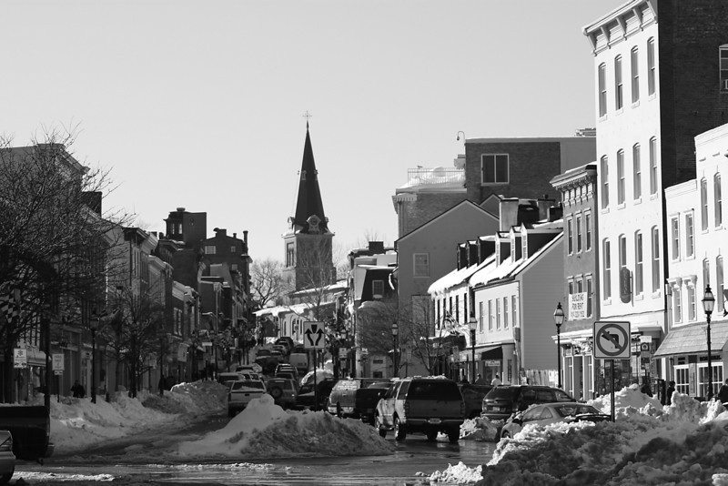 Main Street in Black and White