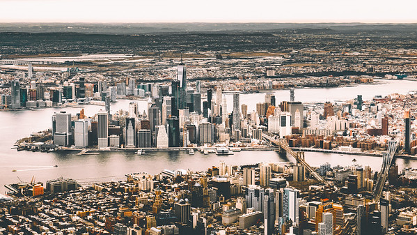 Lower Manhattan from above