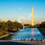 Moonrise Washington Monument