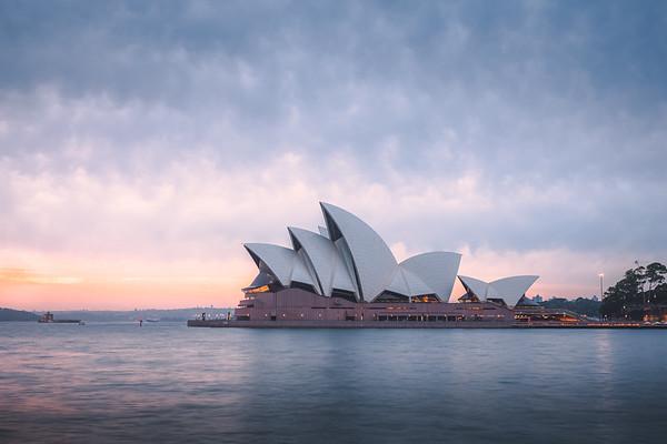 Opera House at Sunrise. Sydney, Australia