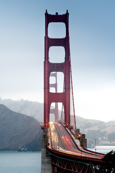The Golden Gate Bridge at Blue Hour - Vertical