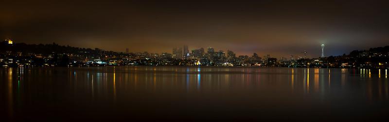 Foggy downtown panorama