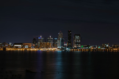 Louisville Skyline From The Far Bank Of The Ohio River