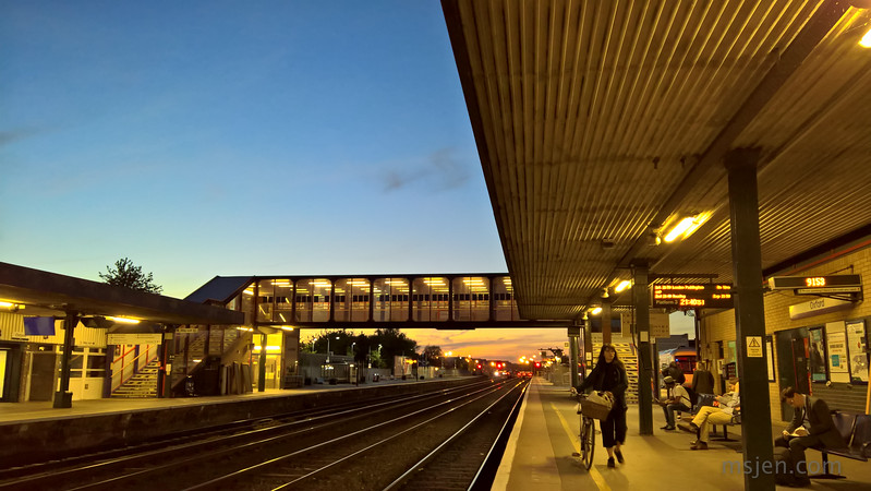 Dusk at the Railway Station
