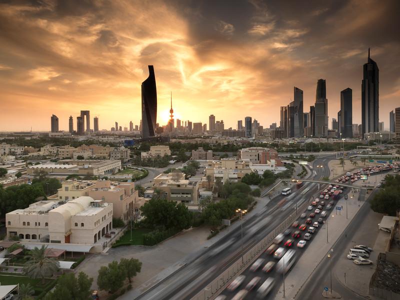 Kuwait - Fire sunset