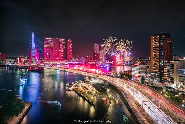 Vuurwerk Wereld Haven Dagen Rotterdam