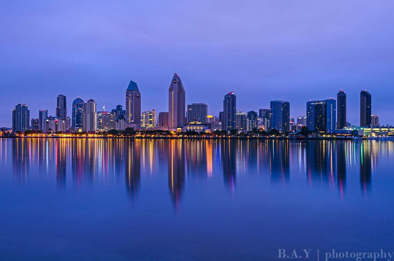 San Diego Skyline at twilight
