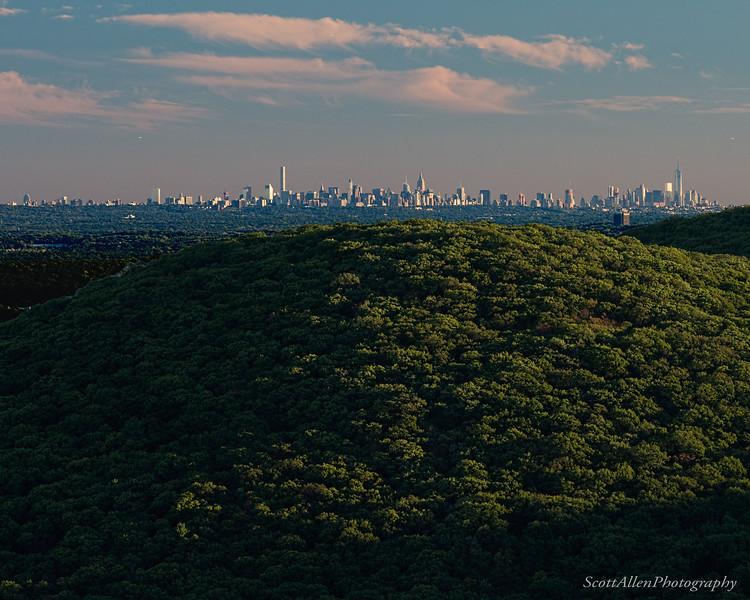 Manhattan View - From Big Bear Mtn, NJ