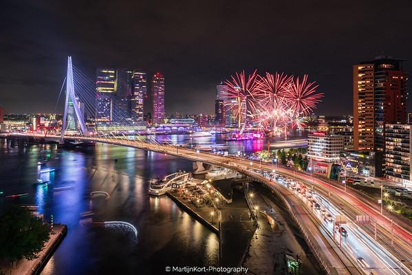 Vuurwerk Rotterdamse wereld haven dagen