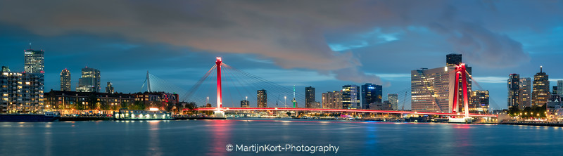 Willemsbrug Panorama Rotterdam