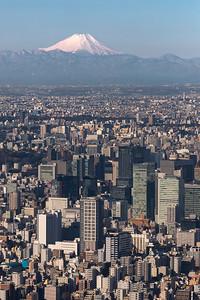 Fujisan and Tokyo