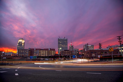Burning Sunset in Winston Salem