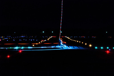 Aircraft Taking Off At Night