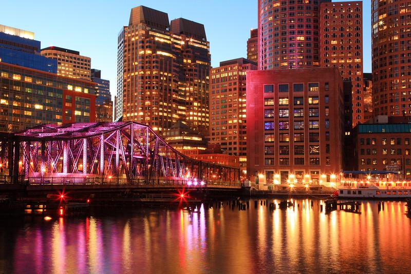 Harbor Lights in Boston Massachusetts