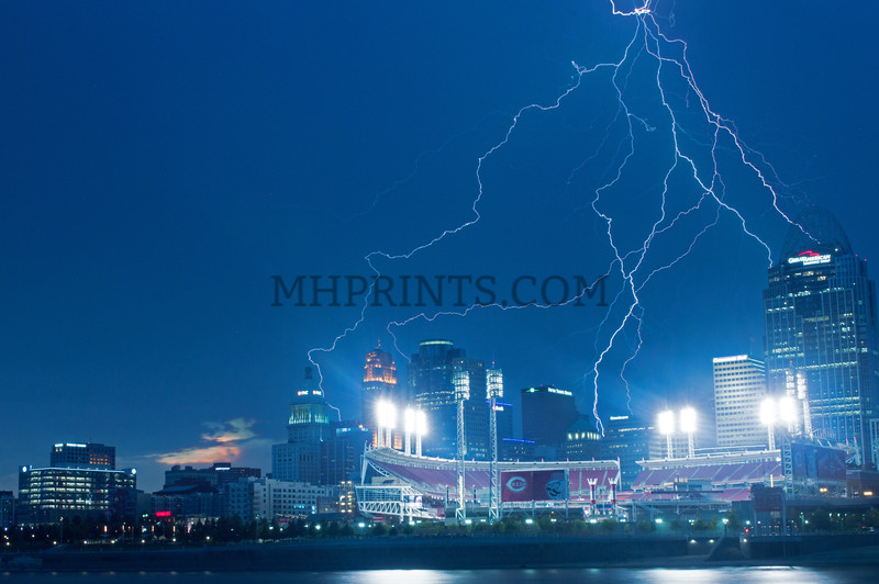 Cincinnati Great American Ball Park Storm