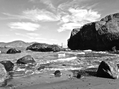 Lands End (Black and White)