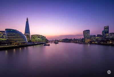 London afterglow