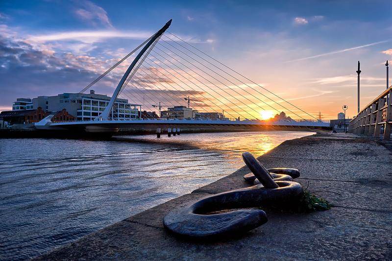 Samuel Beckett Bridge at Sundown