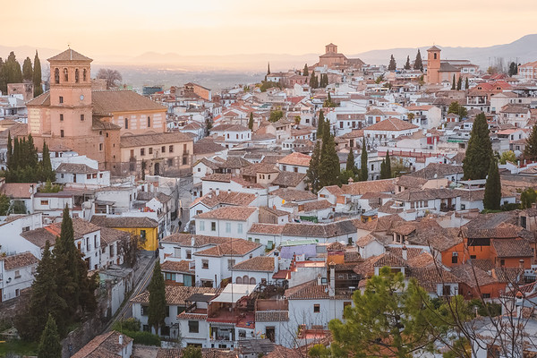 Old Town Sunset Views. Granada, Spain