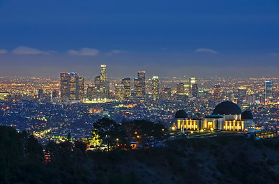 Griffith Observatory and Los Angeles twilight