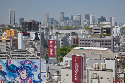 Shinjuku Skyline seen from Shibuya