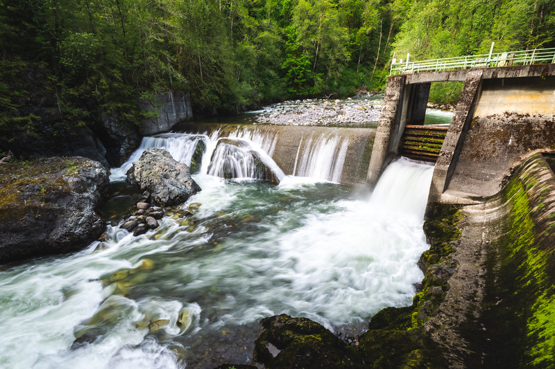 Diversion Dam on the Middle Fork of the Nooksack River
