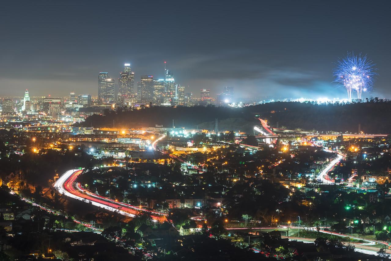 Dodgers fireworks, Los Angeles CA