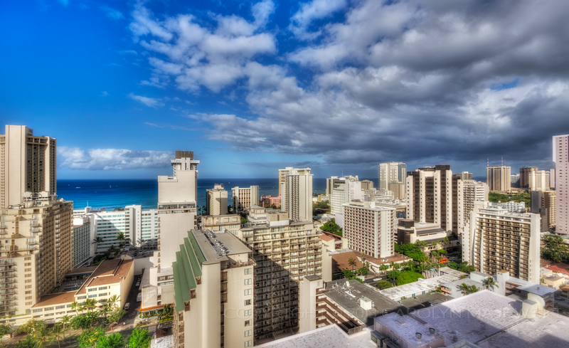 Morning Clouds over Waikiki