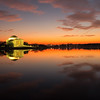After a lot of fun with my new ND filters, I decided to take a normal shot of the Tidal Basin after sunset. Fortunately, I was in time to catch some last moments of magic hour....the red disappeared within a minute of me snapping this shot. I love this area of town, especially in the evenings - minus Cherry Blossom season, its always calm and peaceful.