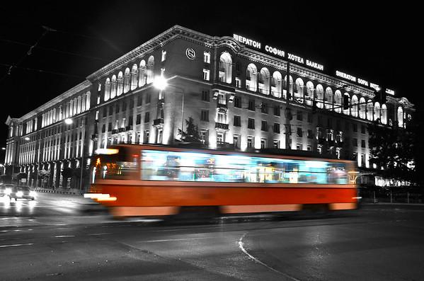 Sofia, Bulgaria at Night
