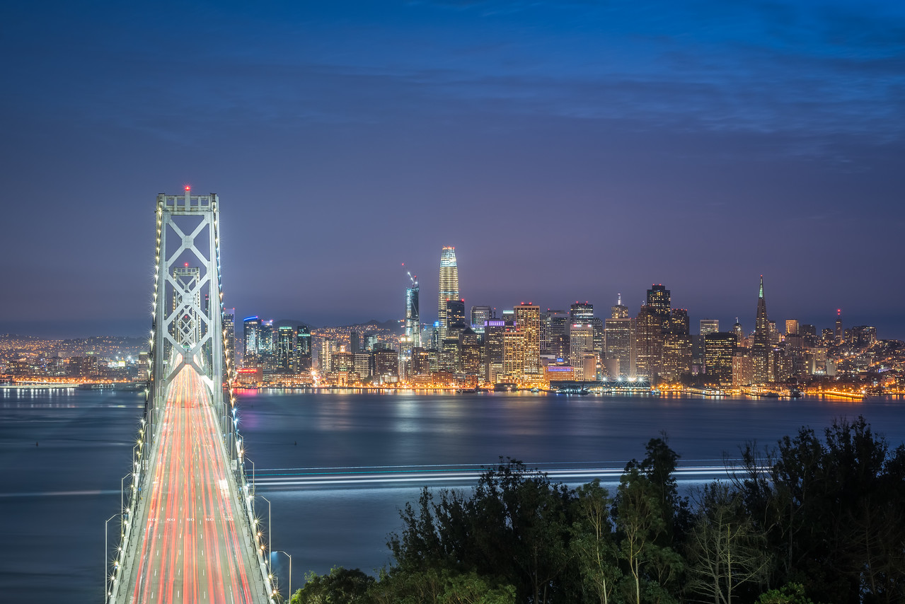 San Francisco twilight cityscape