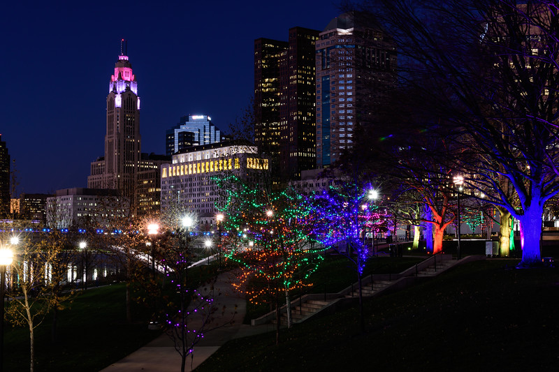 Bicentennial Park Columbus Ohio, Christmas