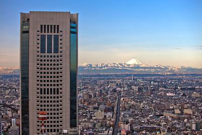 Opera City with Fuji-san