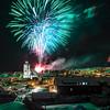 New Year's Eve fireworks over Røros