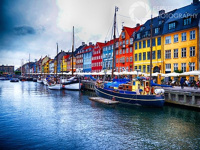 The colorful and famous Nyhavn in Copenhagen.