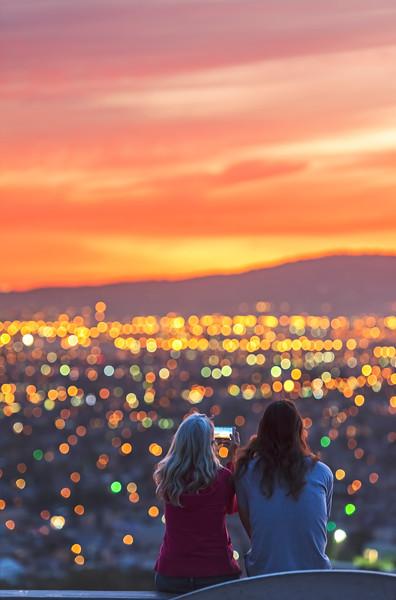Sunset watching Bokeh, Long Beach CA