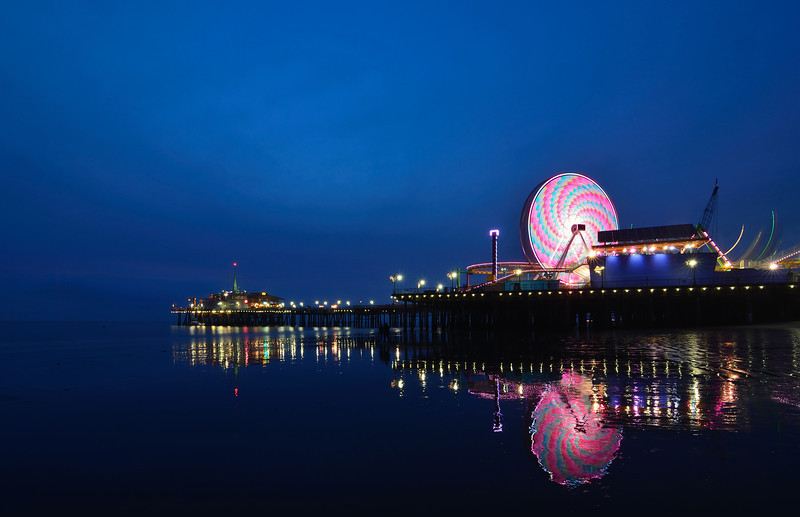 Blue hour Santa Monica Pier