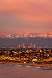 Palos Verdes to Los Angeles sunset burn