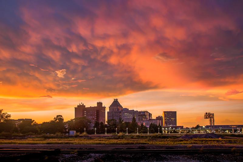 Downtown Greensboro Sunset