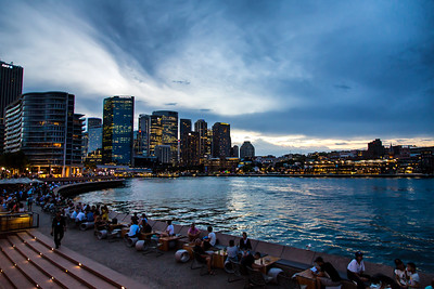 Sydney Australia at sunset.