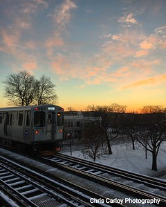 Green Line Sunset