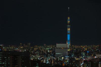 Tokyo Skytree at night