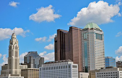 Columbus skyline on a clear day