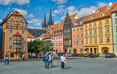 Town Square, Cheb, Czech Republic.