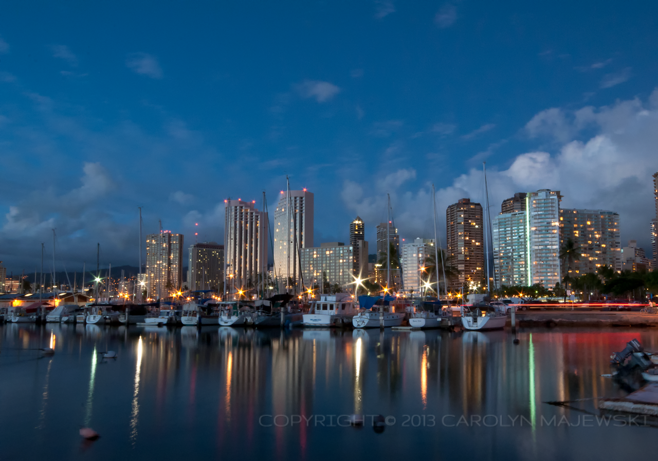 Blue Hour at Ala Wai Harbor