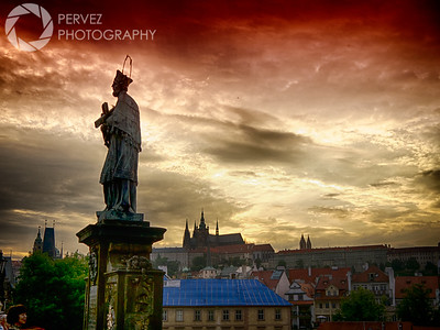Sunset off the Charles Bridge in Prague, with the Prague Castle in the background. I was in Prague for 2 days, and I tried my best to be near the Charles Bridge at sunset each day. This is why. The statues on the bridge are so spectacular and unique (I've never seen any structure like it anywhere, honestly), and they make for great foregrounds for photos capturing the incredible buildings in the distance. Toss in a colorful sky, and you've got the makings of really distinct images, like this one.