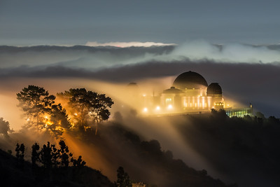 Griffith Observatory fog fall, Los Angeles